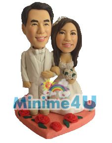 Sweet couple wedding minime doll
