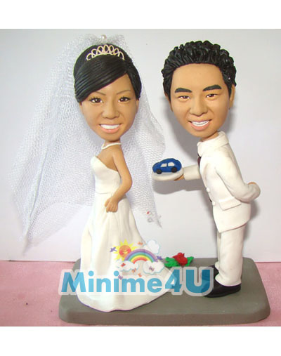 Cute Weddig couple minime doll