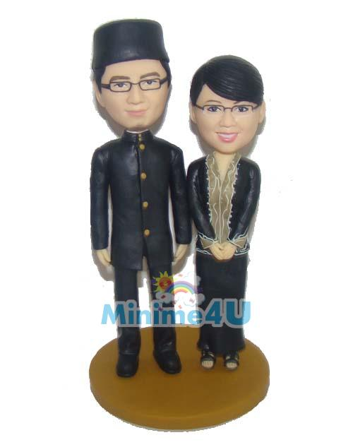 Malaysia traditional wedding cake topper