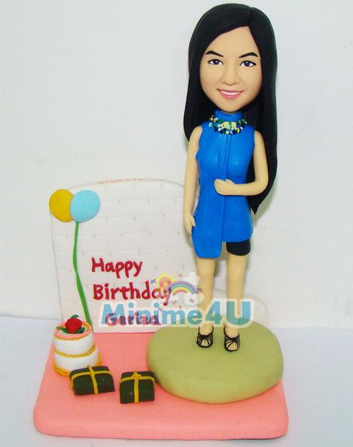 birthday cake topper for girl