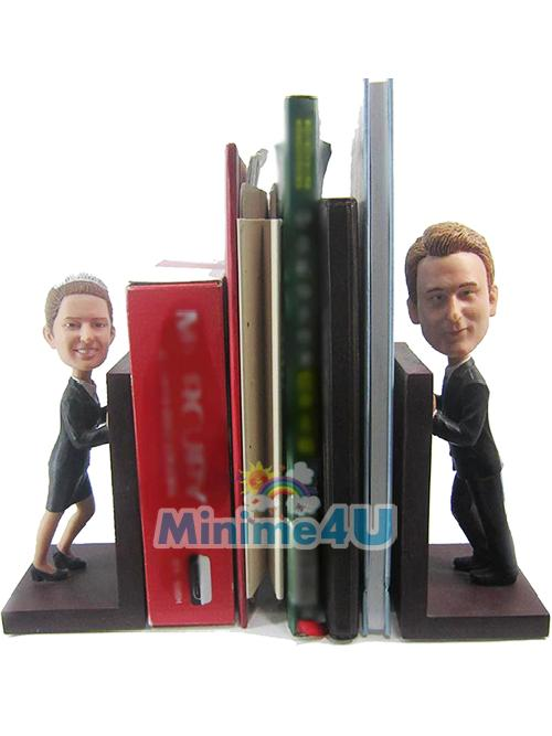 Book holder figure