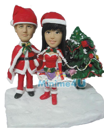Christmas gift for couple mini me template
