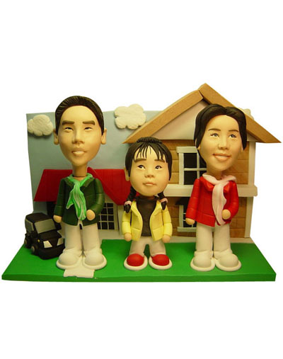 Sweet family set mini me doll