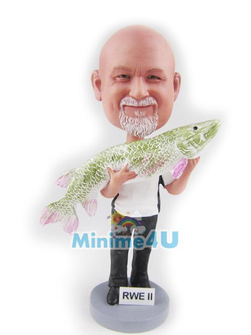 Fish man figure