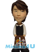 Handsome boy mini me doll