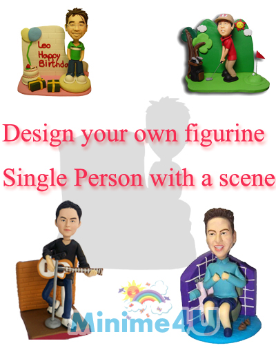 Single Person With A Scene